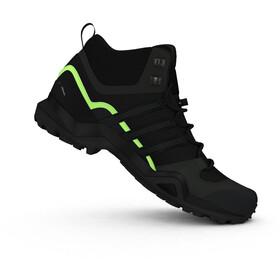 adidas TERREX Swift R2 Mid Gore-Tex Chaussures de randonnée Homme, core black/core black/signal green